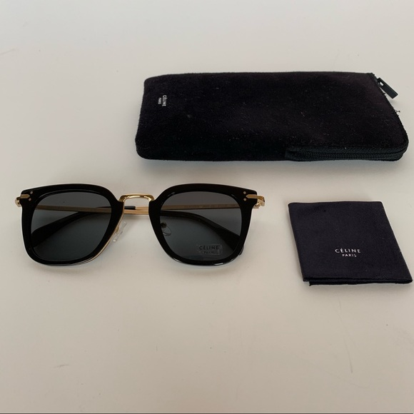 7ad4d706a79 Celine CL 41402 sunglasses Black and gold